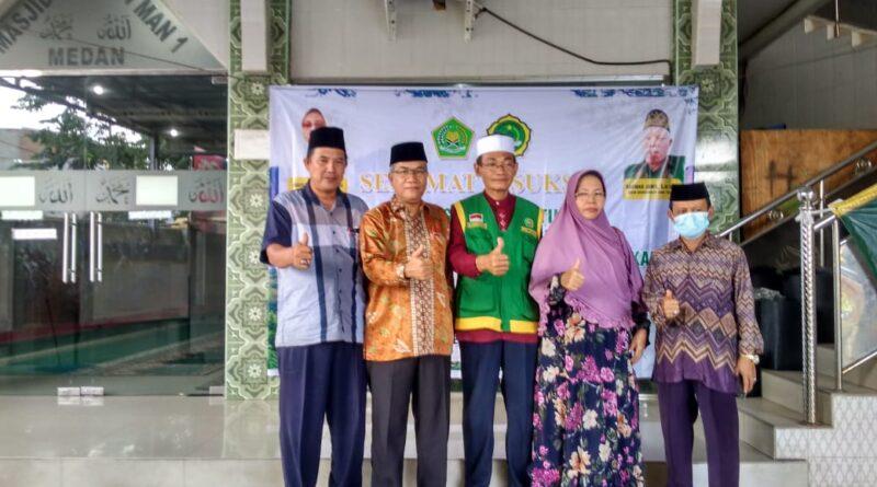 Tim Keagamaan MAN 1 Medan Laksanakan Penghijauan di Jalan Lintas Tanah Karo